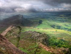 A storm running in over Hen cloud, near Leek Staffordshire Uk, Green Knight, Peak District, Daily Photo, Days Out, Cornwall, Places To See, Ireland, Backdrops