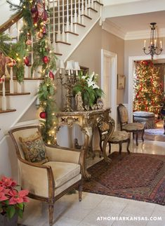 Christmas Decor throughout the house - From At Home in Arkansas magazine