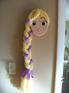 Rapunzel Hair Bow Headband and PonyO by SunflowersandDaisies, $30.00