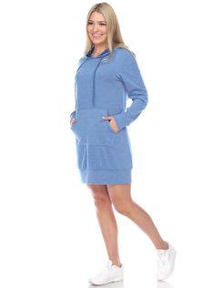 Athletic Dresses, Blue Dresses, Dresses For Work, Athletic Looks, Sweater Design, Sweatshirt Dress, Hoodies, Sweatshirts, Fresh