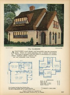 The CLARION - Home Builders Catalog: plans of all types of small homes by Home Builders Catalog Co. Published 1928