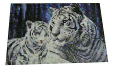 White tiger hama perler beads by Inma