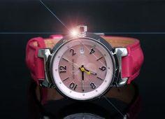 Louis Vuitton Tambour Lovely Pink Monogram Watch