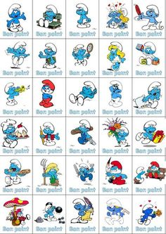 bons points … English Games, English Language Arts, Easy Crafts For Kids, Diy For Kids, Classroom Activities, Classroom Decor, Jellyfish Kids, Ocean Theme Crafts, Smurf Village