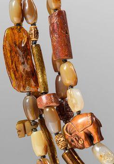Monies UNIQUE Amber, Carnelian, Gold Coral, Bone, Agate, & Carved Beads Necklace   Santa Fe Dry Goods & Workshop #monies #moniesjewelry #jewelry #details #gems #stone #statementpiece #amber #carnelian #goldcora #bone #agate #carvedbeads #beads #necklace #santafe #santafedrygoods