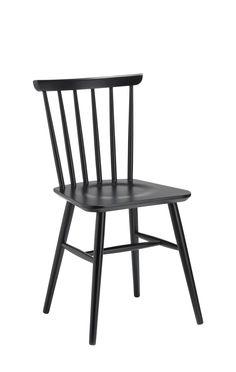 Stuhl CITTI, Buche lackiert schwarz