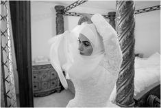 Tips on how to style your hijab on your wedding day for the perfect hijabi bridal look. Easy and simple tips to make sure your hijab looks perfect on your wedding. White Gowns, White Dress, Wedding Hijab, Wedding Dresses, Muslim Brides, Bridal Looks, On Your Wedding Day, Veil, One Shoulder Wedding Dress