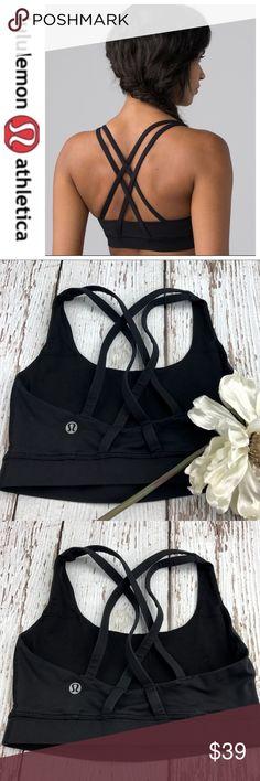 💕SALE💕Lululemon Black Energy Bra Fabulous 💕Lululemon Black Energy Bra size tag removed Great Condition lululemon athletica Tops