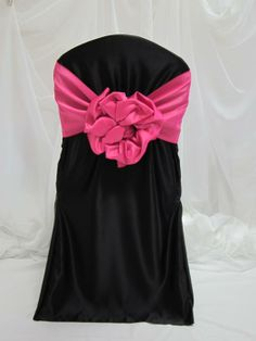 creative chair sash bows | ... chair bow or sash unit standard set up and takedown chair cover bow