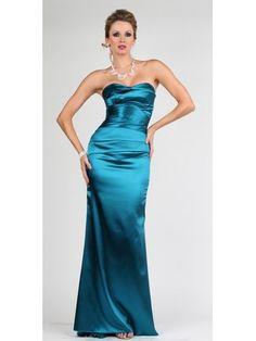 Strapless Satin Prom Dress