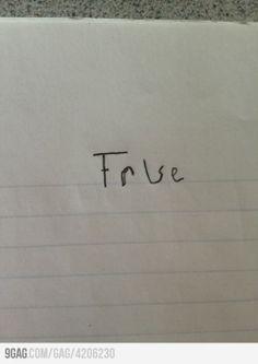 answering True or False