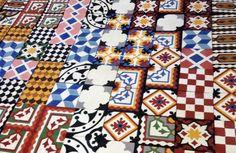 Cement tiles, color patchwork