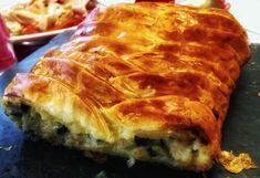 Trenza de puerro, setas y gambas - COMIENDO CON REYES Spanakopita, Lasagna, Appetizers, Cooking Recipes, Ethnic Recipes, Desserts, Food, Arrows, Salad