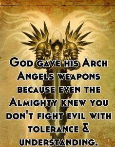 Fighting evil.