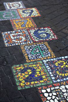I think it's a good idea for the children because they can play and for adults, it makes a beautiful floor outside.