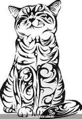 r sultat de recherche d 39 images pour dessin de chat tribal. Black Bedroom Furniture Sets. Home Design Ideas
