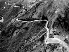 FOR SUSAN- The Old Pali Road, the only way to get from Kailua to the University of Hawaii when I started my freshman year.  Is that a glimpse of the hairpin turn?!