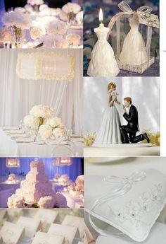 decoration de mariage de princesse toute blanche http://yesidomariage.com - Conseils sur le blog de mariage