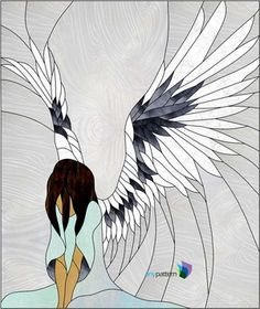 This stained glass window pattern will have an angel watching over you. Get out your stained glass supplies for your glass paint for her face details. Dimensions: wide x tall Number of Pieces: 130 Glass Usage: square feet Southwestern Stained Glass Panels, Tropical Stained Glass Panels, Craftsman Stained Glass Panels, Contemporary Stained Glass Panels, Victorian Stained Glass Panels, Traditional Stained Glass Panels, Dragonfly Stained Glass, Hanging Stained Glass, Stained Glass Angel