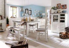 Esstisch Opus Esszimmer Tisch Kiefer massiv weiß Vintage ausziehbar 180-220 cm | Möbel & Wohnen, Möbel, Tische | eBay!