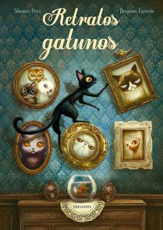 Benjamin Lacombe - Illustration - ideas for Joss's Alice in Wonderland/Through the Looking Glass themed Big Girl room! Cat Painting, Childrens Illustrations, Book Cover Art, Lacombe, Book Cover Illustration, Cat Illustration, Illustration Art, Cover Art, Book Art