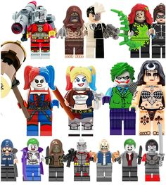 Dc suicide squad: harley #quinn, joker, #batman. lego & custom #minifigures,  View more on the LINK: http://www.zeppy.io/product/gb/2/142153036102/