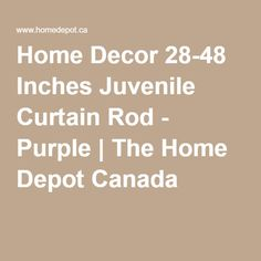 Home Decor Inches Juvenile Curtain Rod - Purple