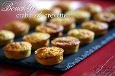 Bouchées apéritives crabe et crevettes grises - Recette Ptitchef