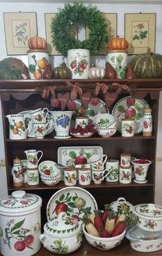 Our Portmeirion Pottery - Pomona Pattern