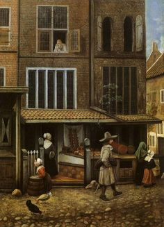 Jacob Vrel  Street scene, ca. 1660