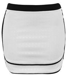 Saia feminina  Confeccionada em tricoline  Detalhe contrastante  Fechamento de zíper  Tendência Preto e Branco    Veja outras opções de   saia.       COLEÇÃO PRIMAVERA VERÃO 2013/2014