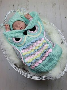 Use keycode FB50 to save 50% on all downloads at e-PatternsCentral.com now through 1/22/17 at 11:59 p.m. EST. Click to order now >> Owl Cocoon Set
