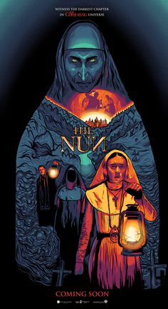 The Nun - Alternate Movie Poster - The Commas Ghost Movies, Scary Movies, Terror Movies, Awesome Movies, Que Horror, Horror Art, The Conjuring Annabelle, Movie Decor, Best Horror Movies