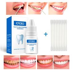 Teeth Whitening Serum Gel Dental Oral Hygiene Effective Remove Stains Plaque Teeth Cleaning Essence Dental Care Toothpaste AlaaExpress is the leading online shopping Dental Teeth, Dental Care, Teeth Health, Healthy Teeth, Teeth Bleaching, Stained Teeth, Serum, Whitening Kit, Teeth Care