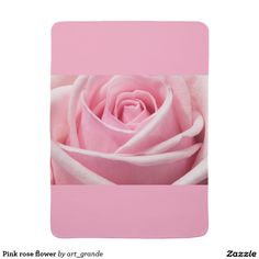 Pink rose flower baby blanket