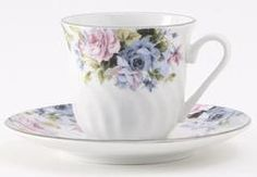 Millicent Bulk Set of 6 Porcelain Teacups and Saucers include 6 Tea Cups and 6 Saucers Cheap price; elegant appearance!