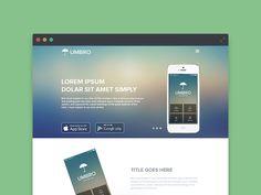 Mobile App Landing Page by Atique Web Design, App Landing Page, Flat Ui, Ui Web, Ui Elements, App Ui, Lorem Ipsum, Google Play, Mobile App