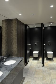 Countertops with built in sinks | Public Washrooms | Bathroom Vanities - vanity top finish in 'Gloucester' marble finish from Versital