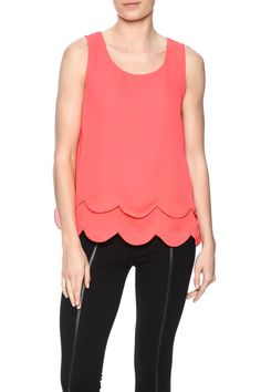Scalloped hemlines and open backs with layered lining in the front.   Layered Scallop Top by C. Luce. Clothing - Tops - Sleeveless Florida