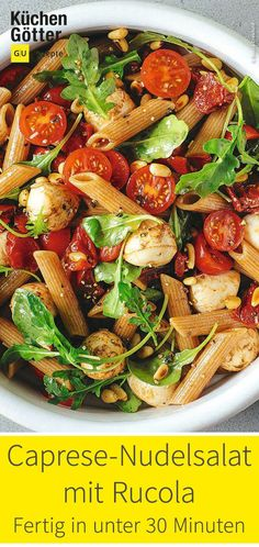 Also probiert doch einmal unseren Caprese-Nudelsalat mit Rucola. You are in the right place about healthy dinner & The post Caprese-Nudelsalat mit Rucola appeared first on Natural Club Healthy Eating Recipes, Easy Healthy Dinners, Healthy Breakfast Recipes, Quick Easy Meals, Dinner Healthy, Easy Dinners, Healthy Snacks, Vegetarian Recipes, Brunch