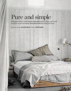 Slaapkamer inspiratie | Puur en simpel. Door Zaza