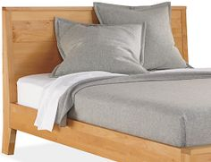 Washable wool blanket in gray, $219.00