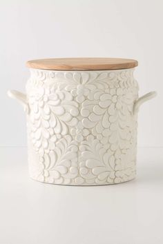 love the texture in this pretty bread bin from Anthropologie...