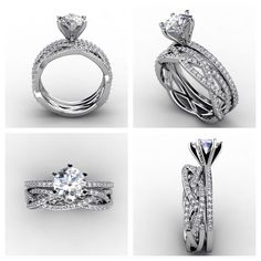 Love How The Band Is Three Strands That S Kind Of Style I Like And Engagement Ring Quite Beautiful Too