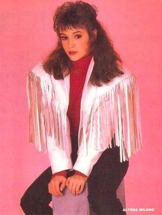 vintage everyday: Alyssa Milano of the '90s