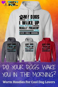 We love these cute hoodies for dog lovers. These hooded sweatshirts with sayings for men, women and teens are not only cozy for cold nights but great for casual office days, get togethers and walks with your dog. Do you know a Dog Dad or Mom that's hard to buy for? These make great gifts. Discover even more cool dog hoodies in our Snazzypup store today!  #hoodies #presents #gifts #christmasgifts #dogs #doglovers #dogmom