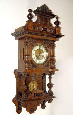 ANTIQUE GERMAN GUSTAV BECKER WALL CLOCK 2 WEIGHT VIENNA