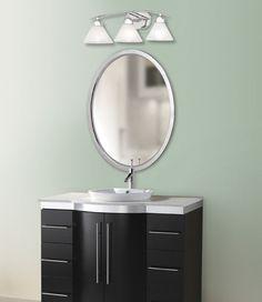Bathroom vanity lighting from LightingOne of Cincinnati. #housetrends http://www.housetrends.com/specialist/Lighting-One