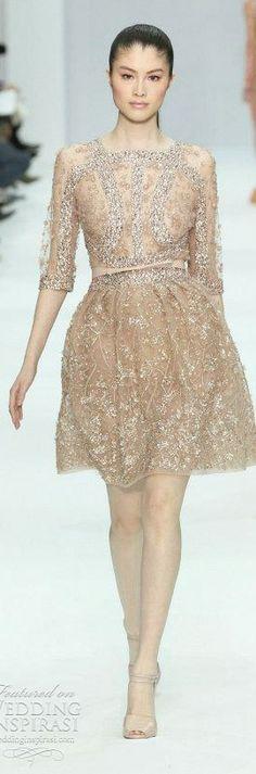 d51622cc80acd Elie Saab short beaded wedding dress Haute Couture Shorts, Beautiful  Wedding Gowns, Stunning Dresses