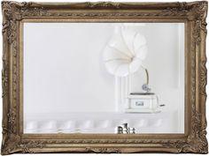 Espelho Decorativo Clássico Prata Envelhecido DP1883 - Decore Pronto